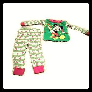 🦖🍭disney Mickey mouse pajamas 18m christmas